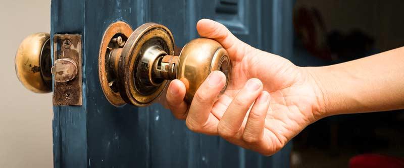 a broken house lock